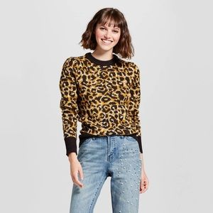 🆕 Leopard Crew Neck Sweater